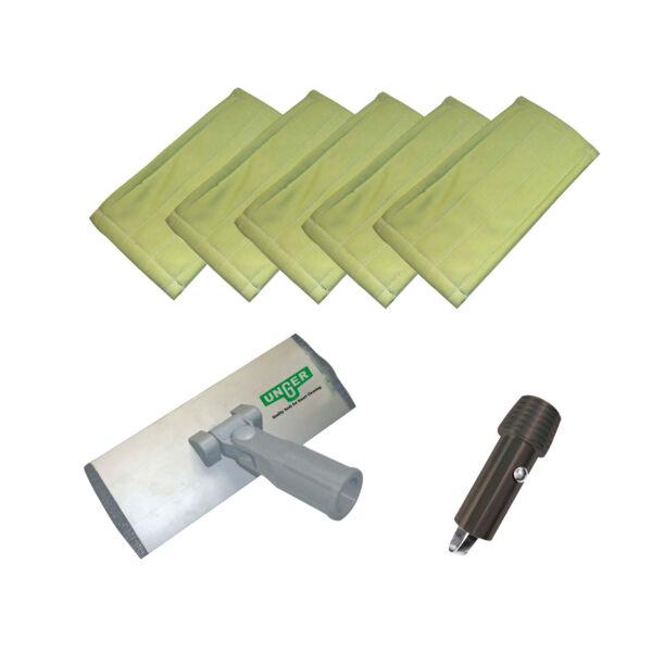 Mikroszálas tisztító pad szett - nyélhez csatlakoztatható
